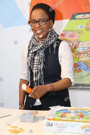Stock Image of Shary Reeves at Ravensburger booth