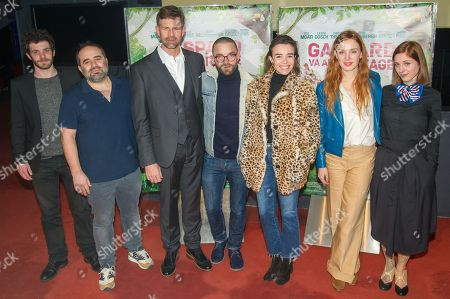 Felix Moati, Antony Cordier, Johan Heldenbergh, Guillaume Gouix, Elodie Bouchez, Laetitia Dosch and guest
