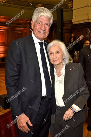 Maurice Levy and the Widow of Elie Wiesel, Marion Wiesel