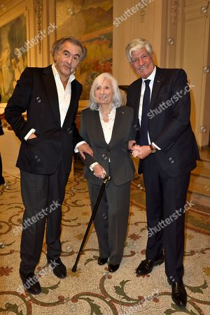 Bernard-Henri Levy, Widow of Elie Wiesel, Marion Wiesel and Maurice Levy