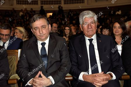Rector of the academic region Ileana Cabra de France and Rector of Paris, Gilles Pecout and Maurice Levy