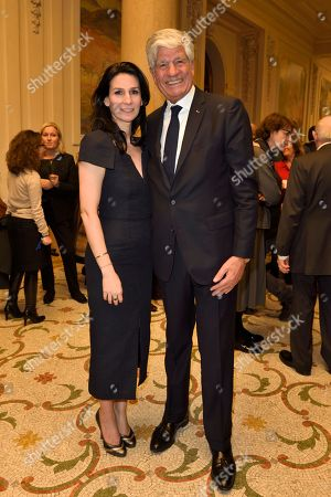 Marie Drucker and Maurice Levy
