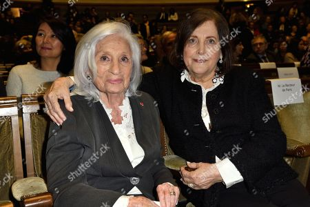 Widow of Elie Wiesel, Marion Wiesel and Raquel Levy wife of Maurice Levy