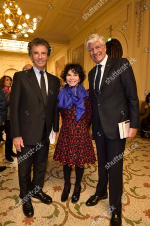 Jack Lang and his wife and Maurice Levy
