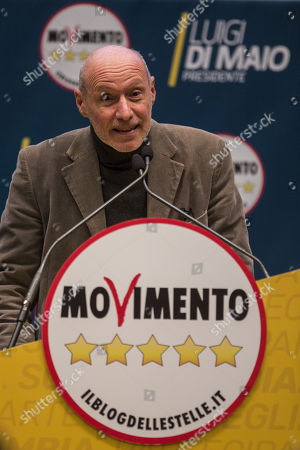 M5S candidate, Captain Gergorio De Andrew Falkous during the presentation of the movement's parliamentary candidates for the upcoming March general elections