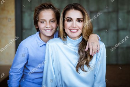 Queen Rania with HRH Prince Hashem to mark his birthday
