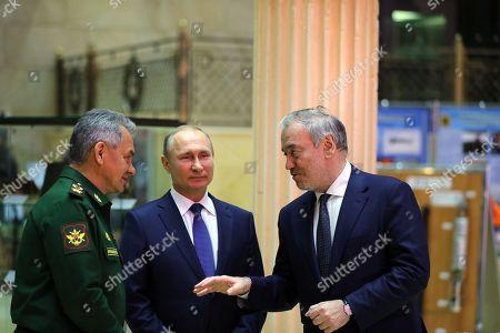 Sergei Shoigu, Vladimir Putin and Valery Gergiev