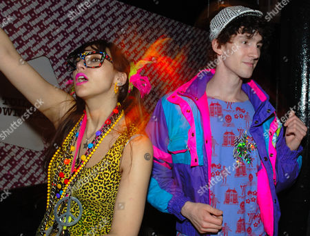Stock Photo of Namalee Bolle and a guy wearing New Rave styles Anti Social London December 2006