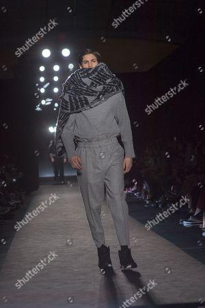 Editorial picture of Javier Giron show, Runway, 080 Barcelona Fashion Week, Spain - 30 Jan 2018