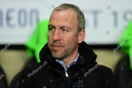 Cambridge United manager Shaun Derry  during the EFL Sky Bet League 2 match between Coventry City and Cambridge United at the Ricoh Arena, Coventry