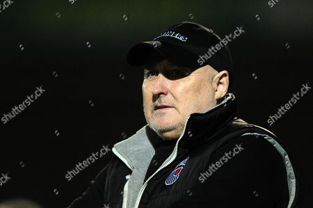 Stock Photo of Russell Slade, Manager of Grimsby Town during the Sky Bet League 2 Match between Yeovil Town and Grimsby Town at Huish Park, Yeovil, Somerset, on January 30th 2018