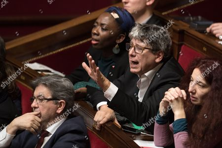 Deputy of La France Insoumise', Eric Coquerel attends the weekly session of the questions to the government at French parliament.