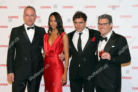 Stock Photo of Stefano Sollima, Zoe Saldana, Adriano Giannini and Bob Kunze-Concewitz