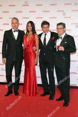 Stock Picture of Stefano Sollima, Zoe Saldana, Adriano Giannini and Bob Kunze-Concewitz