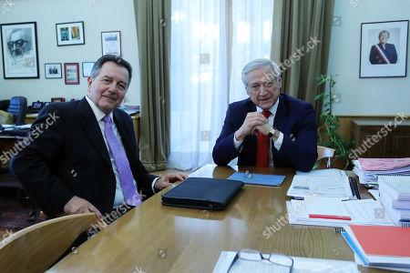Heraldo Munoz and Roberto Ampuero