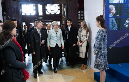 Editorial image of British Prime Minister Theresa May visits China on a Brexit trade mission, Wuhan - 31 Jan 2018