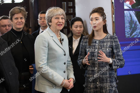 Editorial picture of British Prime Minister Theresa May visits China on a Brexit trade mission, Wuhan - 31 Jan 2018
