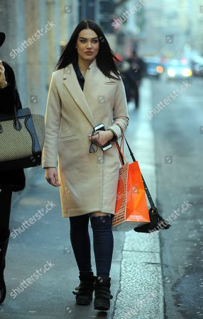 Editorial picture of Dasha Dereviankina out and about, Milan, Italy - 30 Jan 2018