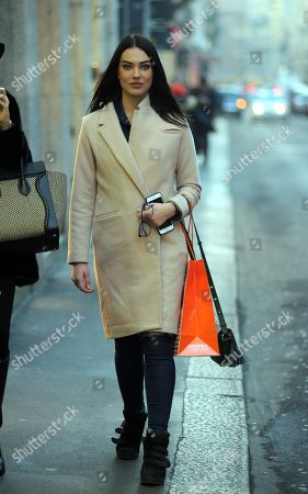 Editorial image of Dasha Dereviankina out and about, Milan, Italy - 30 Jan 2018