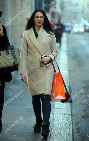 Editorial photo of Dasha Dereviankina out and about, Milan, Italy - 30 Jan 2018
