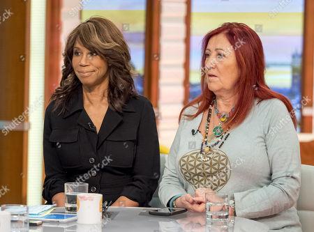 Trisha Goddard and Lynne Franks