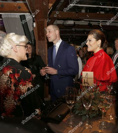 Crown Princess Victoria, Prince William, Bea Szenfeld, official visit by the Duke and Catherine Duchess of Cambridge, reception at Fotografiska