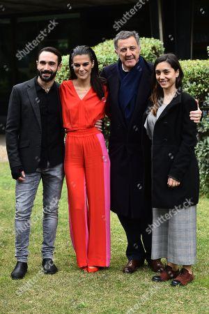Stock Photo of Marco Palvetti, Bianca Guaccero, Luca Barbareschi, Cristiana Dell Anna
