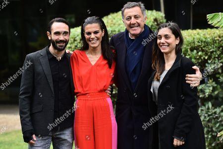 Stock Picture of Marco Palvetti, Bianca Guaccero, Luca Barbareschi, Cristiana Dell Anna