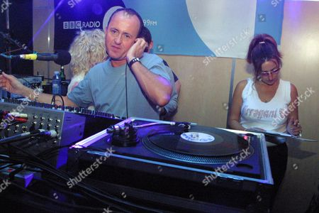 DJ Danny Rampling on the decks at Ocean. London 2001