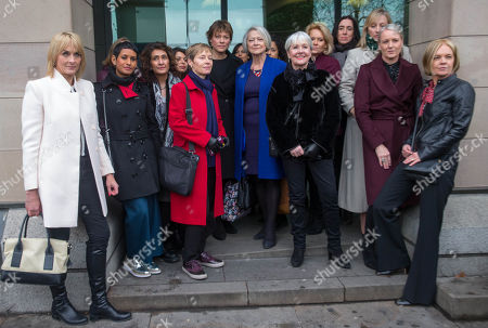 BBC journalists and newsreaders including, Louise Minchin, Naga Munchetty, Kate Adie, Philippa Thomas and Mariella Frostrup show their support ahead of the BBC Pay Review at Portcullis House