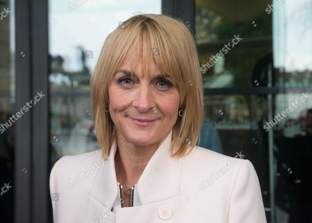 Louise Minchin outside Portculiis House before the BBC pay review Committee hearing