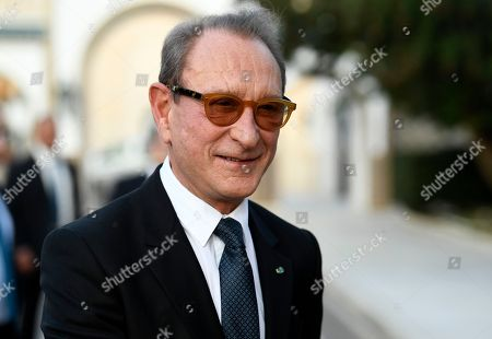 Stock Photo of The former mayor of Paris Bertrand Delanoe arrives at the Presidential Palace in Carthage, outside Tunis