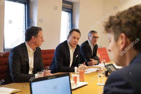Ralph Hamers, Koos Timmermans and Steven van Rijswijk