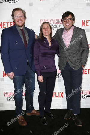 Ben York Jones (Co-Creator), Cindy Holland (VP of Content; NETFLIX) and Michael Mohan (Co-Creator)