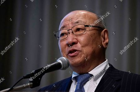 "Japanese video game maker Nintendo Co. President Tatsumi Kimishima speaks during a news conference during in Tokyo . Japanese video-game company Nintendo Co. says a movie starring the plumber in the Super Mario franchise is in the works, being co-produced with Chris Meledandri, the chief executive of Illumination Entertainment, the U.S. animation studio behind the popular ""Despicable Me"" series"