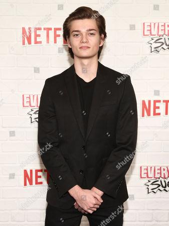 "Elijah Stevenson attends the season one premiere of Netflix's ""Everything Sucks!"" at AMC 34th Street, in New York"