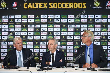 Bert Van Marwijk, David Gallop and Steven Lowy