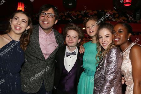 Abi Brittle, Michael Mohan, Quinn Liebling, Peyton Kennedy, Sydney Sweeney and Claudine Nako