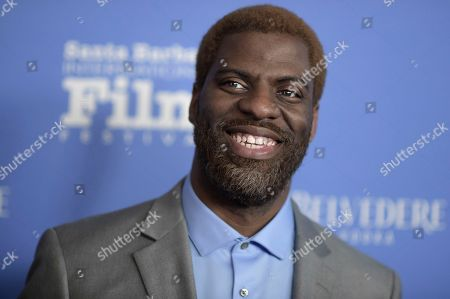 "Stock Photo of Thomas Silcott attends the 2018 Santa Barbara International Film Festival opening night fIlm premiere ""The Public"", in Santa Barbara, Calif"