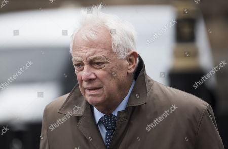Lord Chris Patten, former Chairman of the BBC Trust seen arriving at the House of Lords in Westminster.