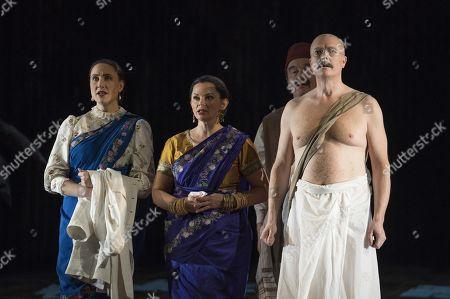 Stephanie Marshall as Kasturbai, Anna-Clare Monk as Mrs Naidoo, Toby Spence as M K Gandhi