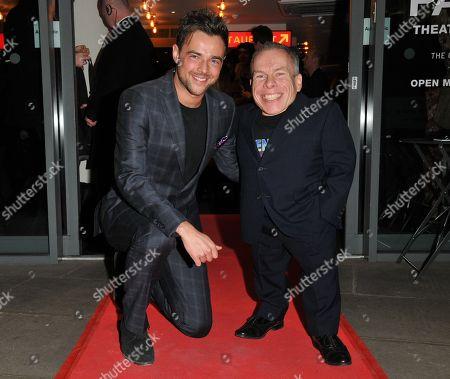 Ben Adams and Warwick Davis