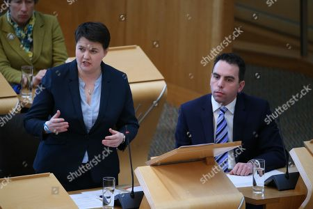 Scottish Parliament First Minister's Questions - Liz Smith, Ruth Davidson, Leader of the Scottish Conservative and Unionist Party, and Maurice Golden