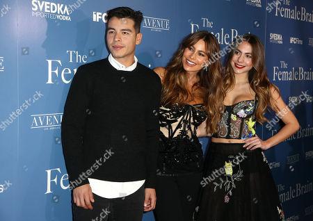 Stock Picture of Manolo Vergara, Sofia Vergara and Paulina Char