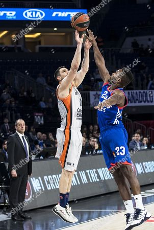 Editorial image of Anadolu Efes Istanbul vs Valencia Basket, Turkey - 01 Feb 2018