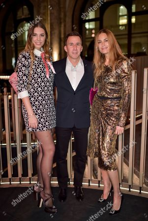 Amber Le Bon, Harvey Spevak and Yasmin Le Bon
