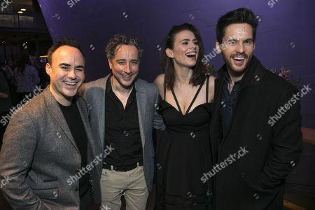 Stock Photo of Joseph Balderrama (Jeff), Aidan McArdle (Rick), Hayley Atwell (Jenny) and Tom Riley (Seth)