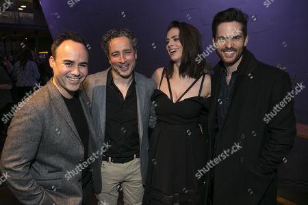 Stock Picture of Joseph Balderrama (Jeff), Aidan McArdle (Rick), Hayley Atwell (Jenny) and Tom Riley (Seth)