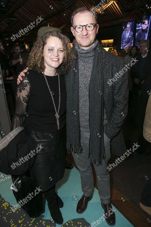 Emma Cunniffe and Mark Gatiss
