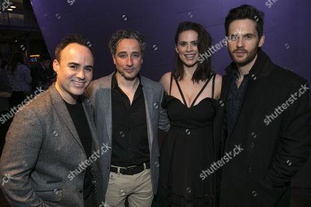 Joseph Balderrama (Jeff), Aidan McArdle (Rick), Hayley Atwell (Jenny) and Tom Riley (Seth)